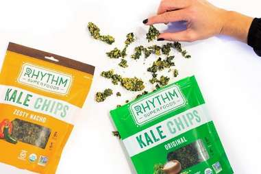 kale chips on table