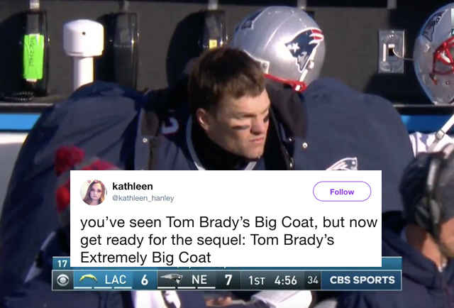 Tom Brady Sideline Coat Meme The Quarterback S Massive Coat Is Back