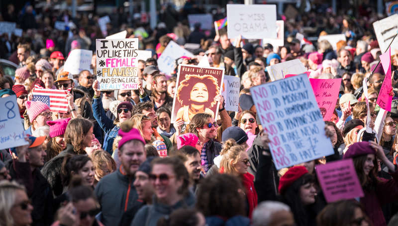 women's march nyc crowd