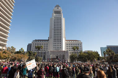 women's march la ceremony city hall
