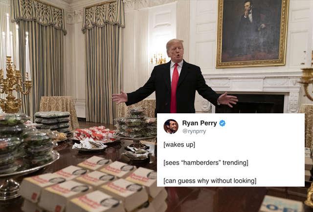 Hamberders Meme President Trump S Harmburger Tweet Is A