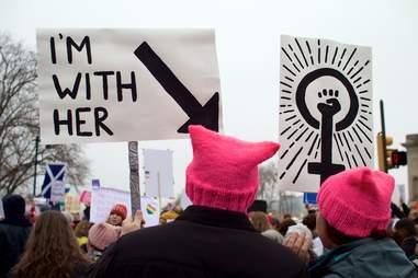 philadelphia women's march pussy hats
