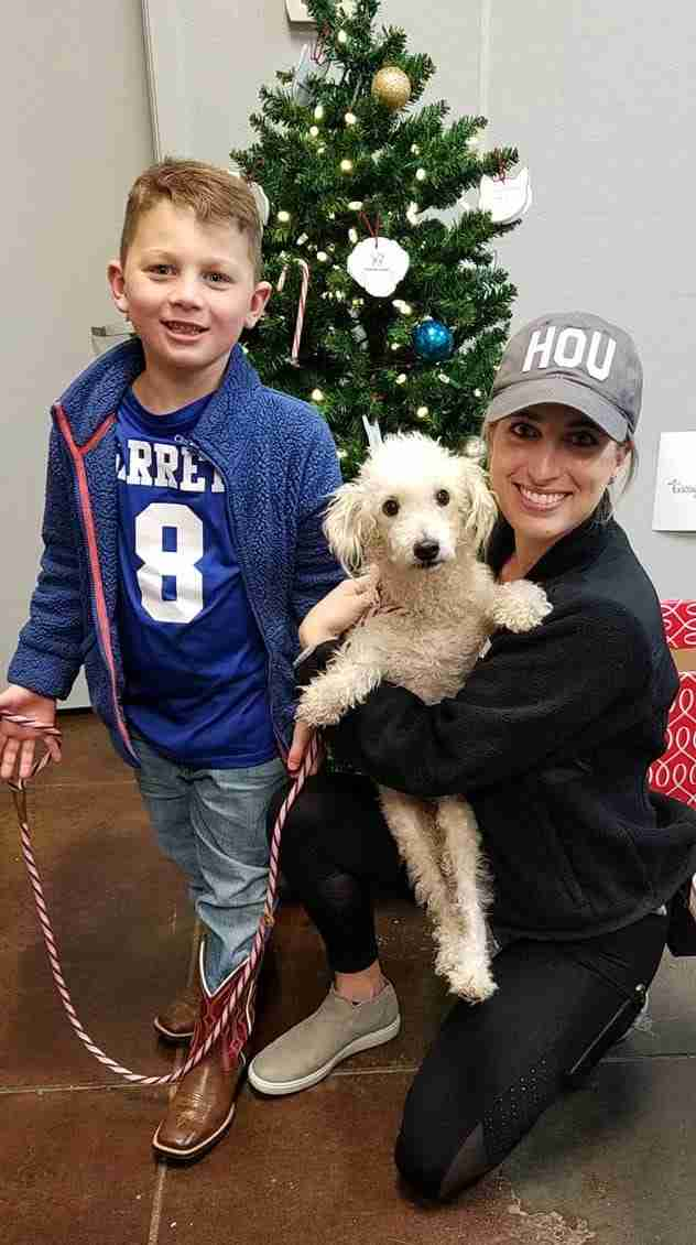 Courtney Thomsen adopts Taco from Texas shelter