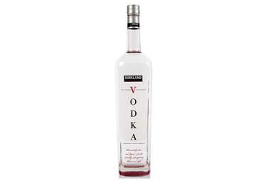 Kirkland Vodka bottle