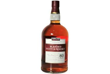 Kirkland Scotch bottle