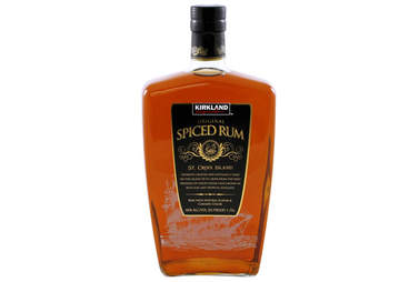 Kirkland rum bottle