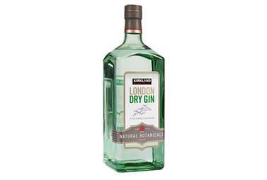 Kirkland London dry gin bottle