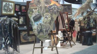 Painting on elephant ear