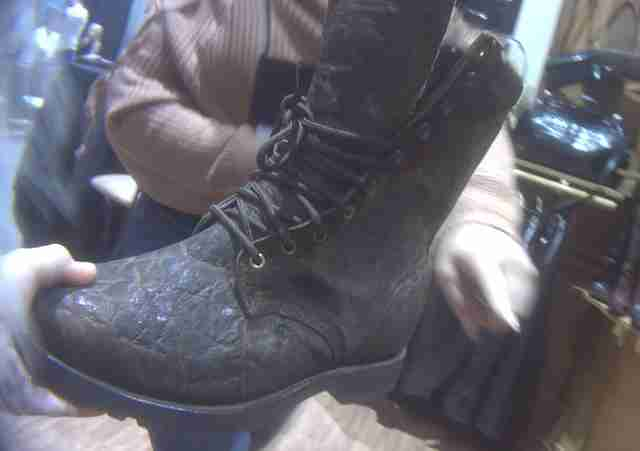 Boot made out of elephant leather