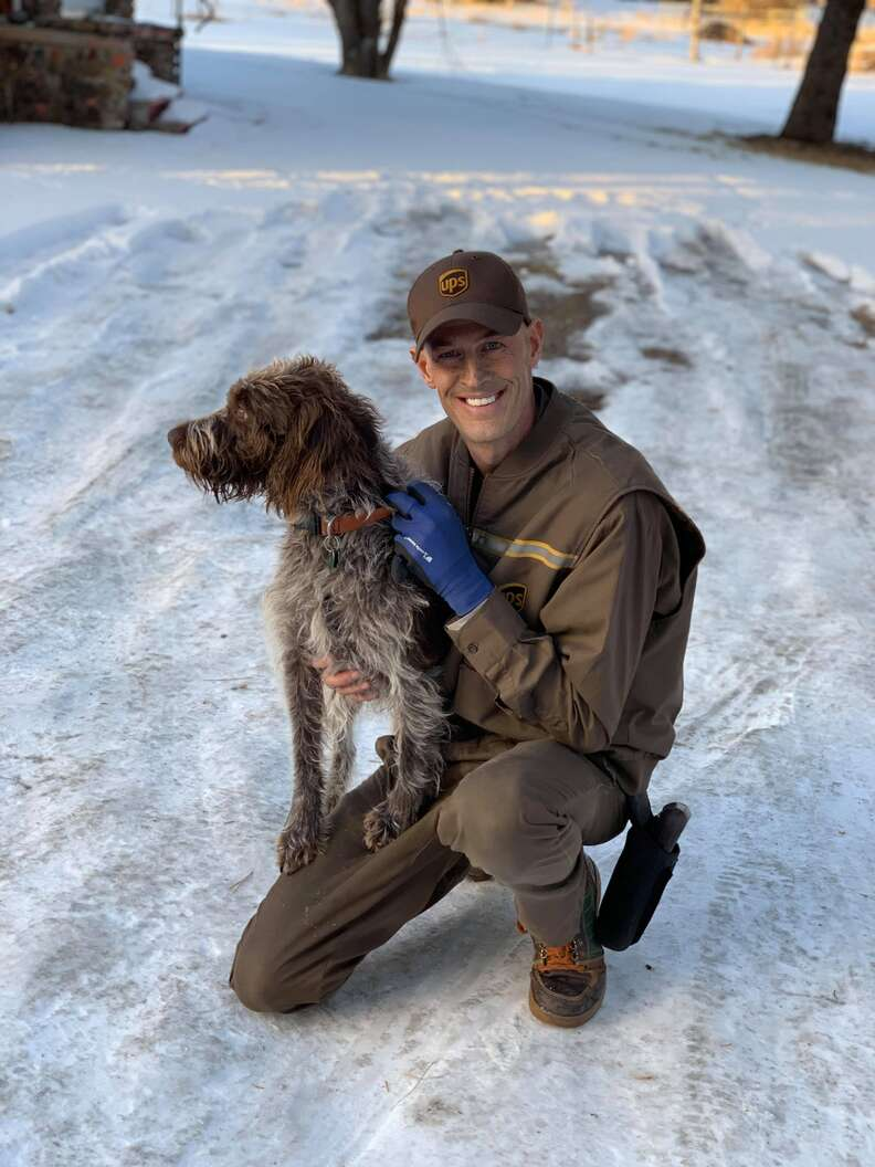Lost dog saved from icy pond in Bozeman, Montana, by UPS deliveryman