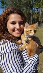 Briena Gianfrancesco the day of the kitten proposal