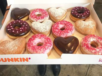dunkin heart-shaped donut