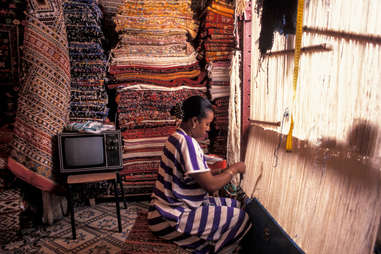 carpet making souq marrakech