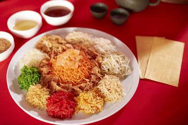 Yusheng -- colorful veggies