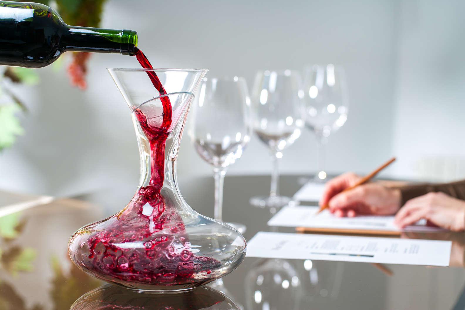 décanter vin rouge