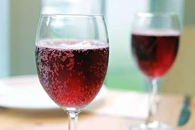 Red Sparkling Beverage