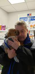 puppy reunites with rescuer