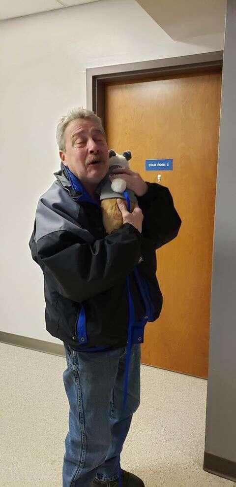 puppy reunites with rescuer