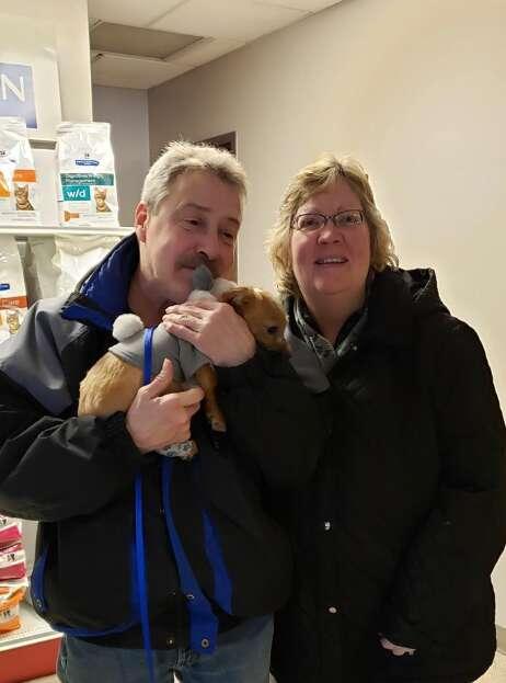 rescuer reunites with puppy