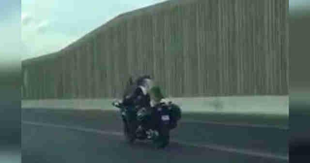 Motorcycling husky