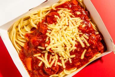 jollibee jolly spaghetti cheese banana ketchup sausage fast food