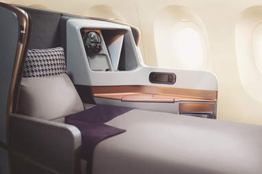 Singapore Airlines bed