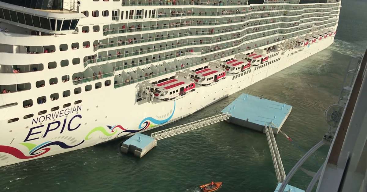 Giant Cruise Ship Demonstrates Exactly How Not to Dock a Giant Cruise Ship