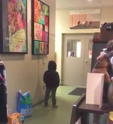 Kid gets surprised with puppy