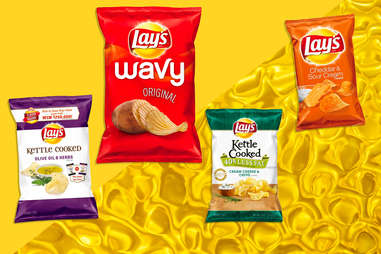 Lay's chips ranking olive oil wavy kettle cooked