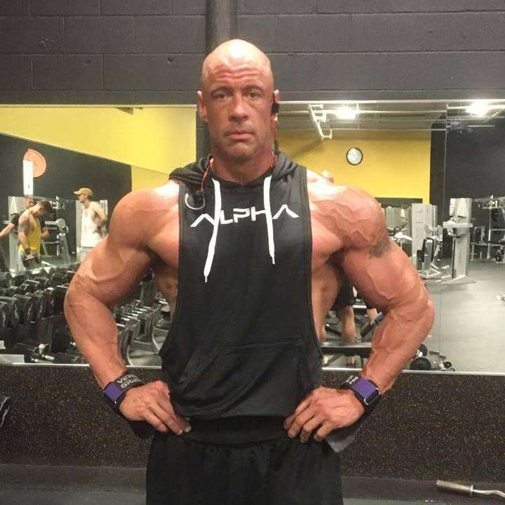 Bobby Humphreys at the gym in Maryland