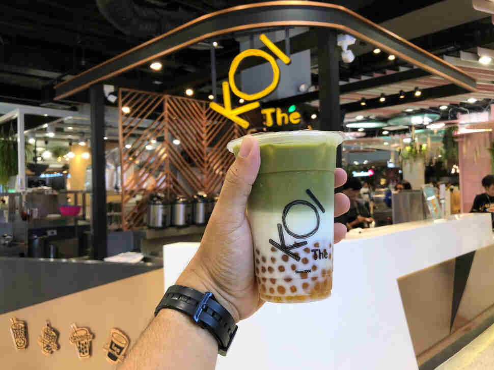koi boba milk tea in thailand
