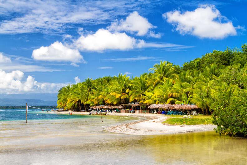 Star fish beach on Bocas del Toro island, Panama