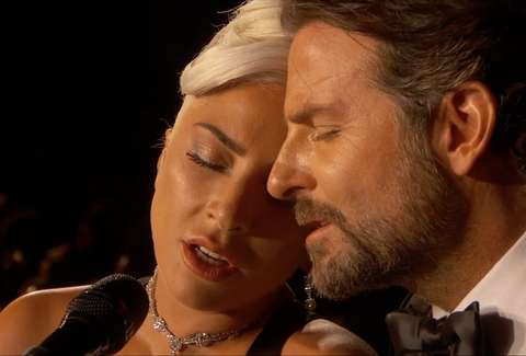Image result for lady gaga and bradley cooper oscar meme