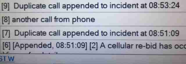 911 log of calls from dogs