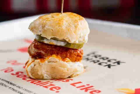 the crack shack spicy biscuit slider