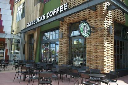 Exterior of Starbucks Disney Village Paris