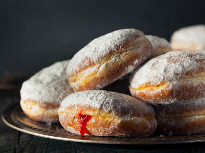Sugary Paczki Donut with Cherry Filling
