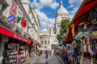 street in montmartre paris