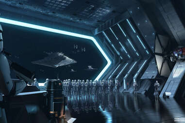 """Concept art for Galaxy's Edge """"Rise of the Resistance"""" ride"""
