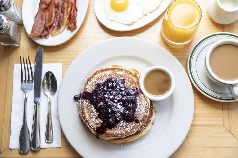 clinton street baking company blueberry pancakes