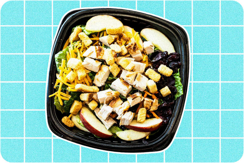 Apple and cranberry chicken salad