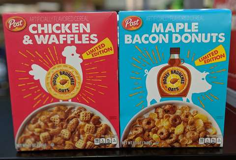 Maple Bacon Donut & Chicken & Waffles Cereals