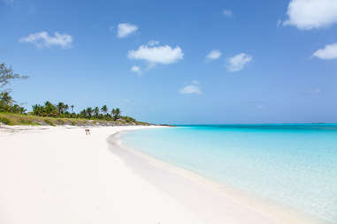 secluded white sand beach