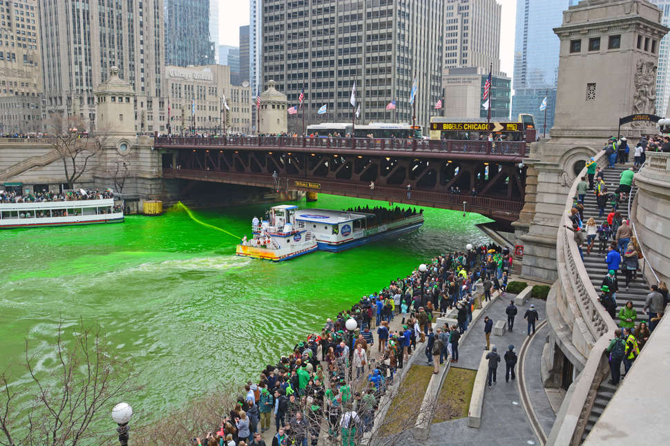 dyed green river Chicago