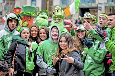 st. patrick's parade spectators