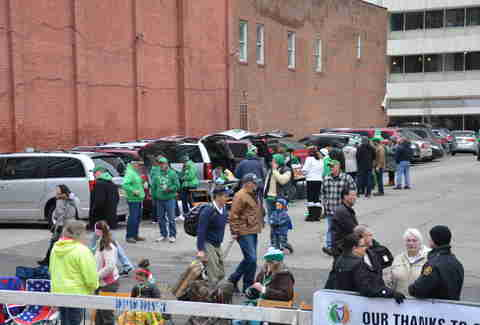 st. patrick's parade parking in pittsburgh