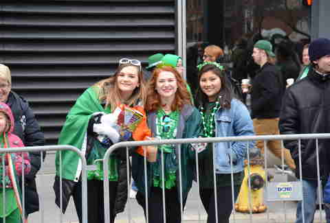 st. patrick's parade spectators in pittsburgh