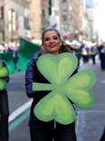 st. patrick's parade cheerleaders