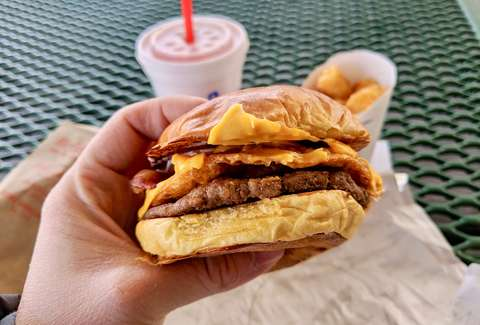 Sonic brunch burger