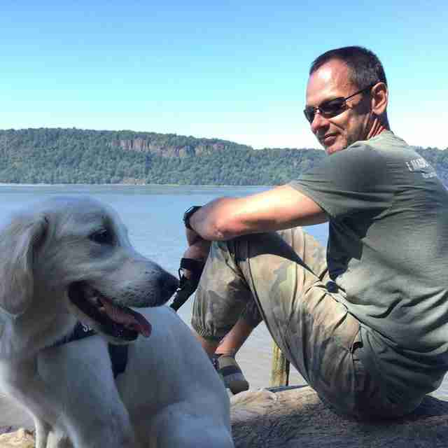 A Man And His Dog >> Man And His Dog Work Together To Save 2 Pups Trapped In Icy Lake